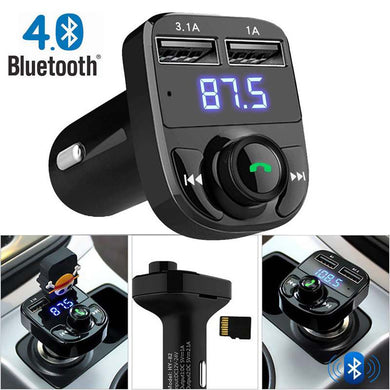 FM Transmitter  Bluetooth Car Kit Car Audio MP3 Player with 3.1A Quick Charge Dual USB Car Charger