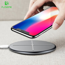 Load image into Gallery viewer, FLOVEME New Design Wireless Charger For iPhone X 8 Wireless Charger Pad For Samsung S9 S8 S7 S6 Galaxy Note 8 For NEXU S4 S5 S6
