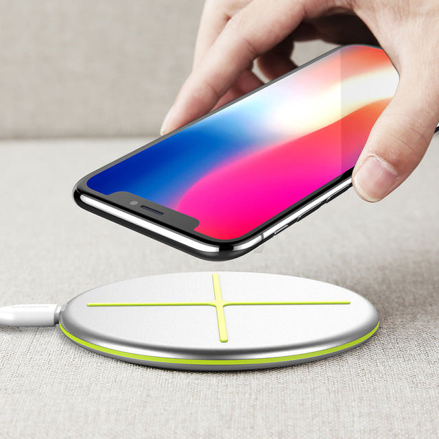 FLOVEME New Design Wireless Charger For iPhone X 8 Wireless Charger Pad For Samsung S9 S8 S7 S6 Galaxy Note 8 For NEXU S4 S5 S6