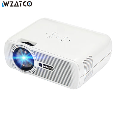 WZATCO CTL80 LCD Projector Upgrade Android 7.0 WIFI Portable LED TV Projector 1800lumens 3D Home Theater Full HD 1080p 4K Beamer