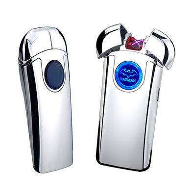 Dual Arc USB Lighter Rechargeable Electronic Lighter LED Screen