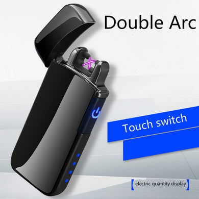 Windproof Creative Touch USB Double Arc Electronic Lighter
