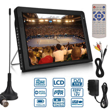 Load image into Gallery viewer, Outdoor 10.2 Inch 12V Portable Digital Analog Television DVB-T / DVB-T2 TFT LED HD TV Support TF Card USB Audio Car Television