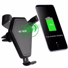 Load image into Gallery viewer, Car Mount Wireless Charger for iPhone 8 Plus X Fast Wireless Charging Pad Car Holder Stand For Samsung S9 S8 Plus S7