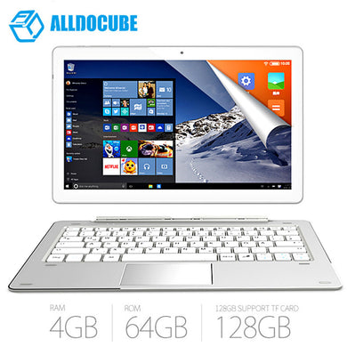 ALLDOCUBE iWork10 Pro 2 in 1 Tablet 10.1 Windows 10 Intel Cherry Trail X5-Z8350 Quad Core 1.44GHz 4GB 64GB HDMI Android Tablet