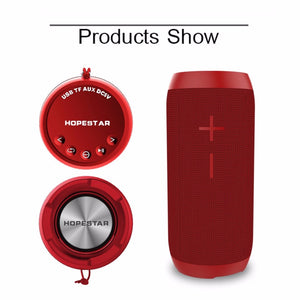 HOPESTAR P7 Can Shape Bluetooth Speaker TF Card Music Player Waterproof Power Bank Support 1+1 Wireless Serial Function