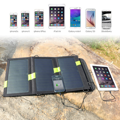 Solar Power Bank Solar Phone External Battery 5V 20W 2 USB Output for iPhone iPad Samsung HTC Sony LG and more USB Devices