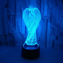 Load image into Gallery viewer, New Angel 3d Small Night Light Remote Touch Colorful Gifts 3d Small Kids Lamp Luminaria De Mesa 3d Light Fixtures