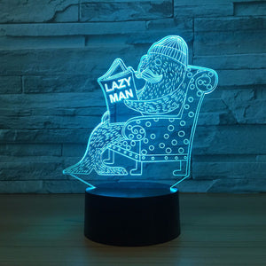 Seal 3d Vision Night Light Touch Touch Switch Usb Light Fixtures Lovely 7 color change 3D Lamp Luminaria Fun Gift for Lazy Man