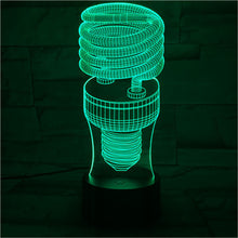 Load image into Gallery viewer, 3D Spiral Bulb Colorful Night Light USB