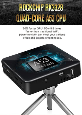 pico projecto C9 DLP Android 7.1 RK3328 Mini Pocket Projector 4K Android 2G/16G 2.4G/5G WiFi Bluetooth 4.0 PK C6 H96-P projector
