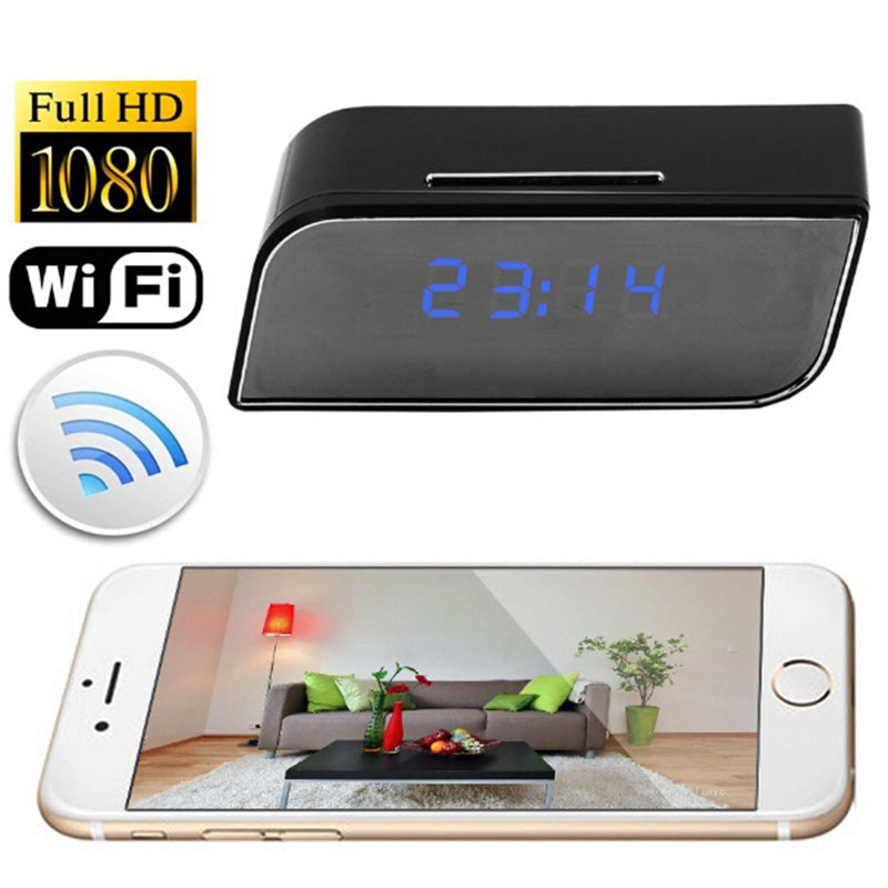 1080P WIFI Mini Camera Time Alarm Wireless P2P Security Night Vision Motion  Detection