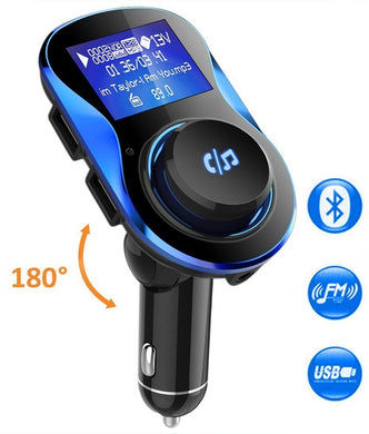 Wireless FM  Bluetooth FM Transmitter Dual USB Charging Support U Disk Mp3 Player for Phone