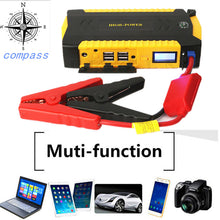 Load image into Gallery viewer, Mini Car Jump Starter 12V Multifunction Power Bank Charger For Car Battery 16000mAh Emergency Starting Device Starter Power