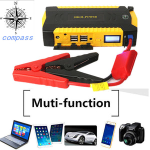 Mini Car Jump Starter 12V Multifunction Power Bank Charger For Car Battery 16000mAh Emergency Starting Device Starter Power