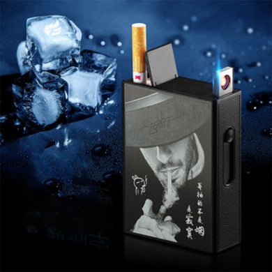 USB charging lighter Automatic cigarette case