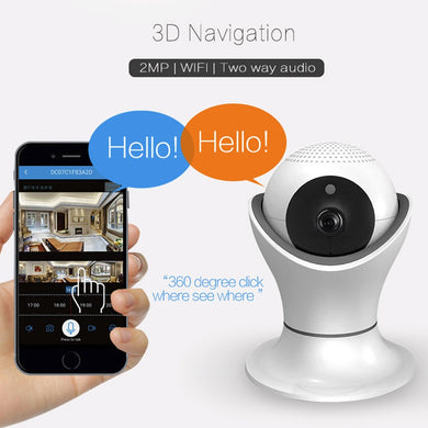 HD 1080P WIFI Wireless 2-Ways Audio CCTV Camera APP for iPhone Android Built-in Mic  Speaker Camera