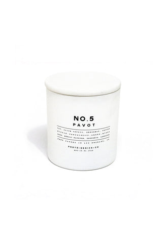 NO.5 PAVOT GLASS CANDLE