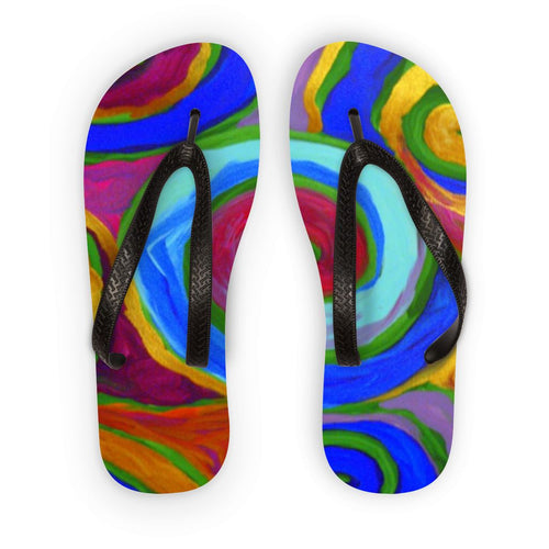 Rainbow Swirls KSeries  Flip Flops