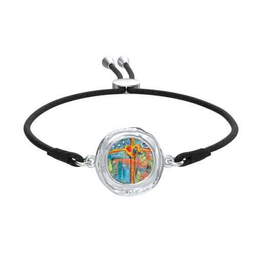Cross My Heart Jewelry / Tp Charm - Bracelet / Fox Coin with Liv Cord Silver