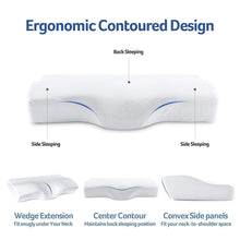 Load image into Gallery viewer, Contoured Orthopedic Cervical Pillow