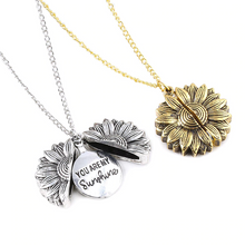 Load image into Gallery viewer, Open & Shut Sunflower Necklace