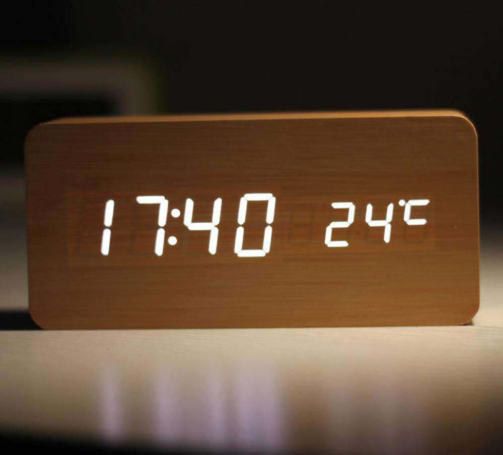 NatureTime™️ Voice Controlled Wooden Alarm Clock