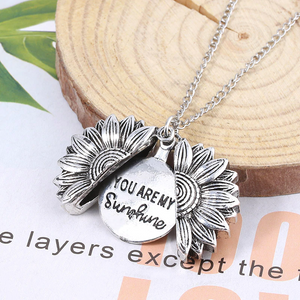 Open & Shut Sunflower Necklace