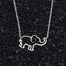Load image into Gallery viewer, Cute Elephant Necklace In Gold & Silver