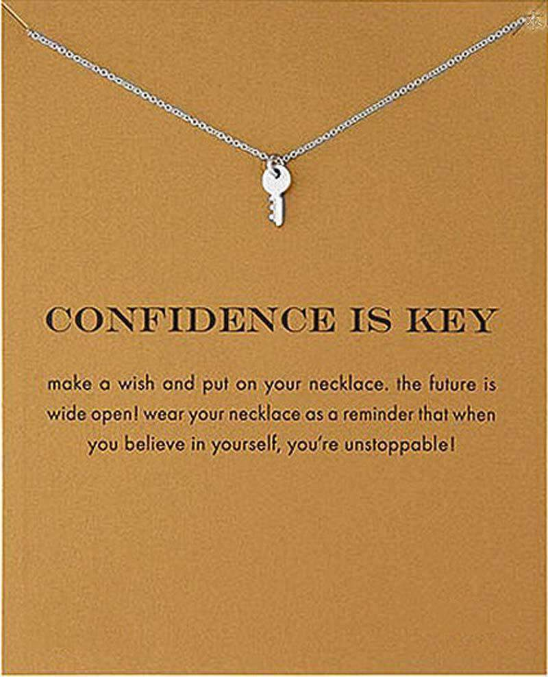 Handmade Confidence Is Key Necklace