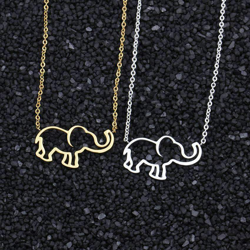 Cute Elephant Necklace In Gold & Silver