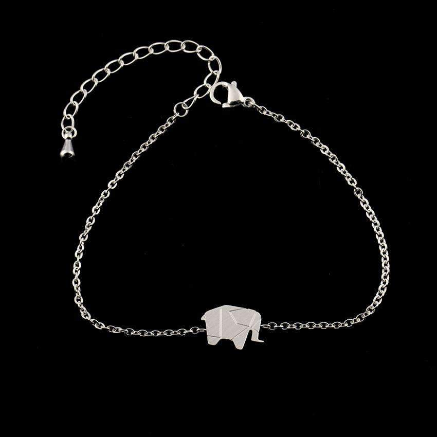 Origami Elephant Bracelets In Gold & Silver