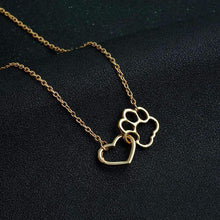 Load image into Gallery viewer, PawseForPupper™️ Doggo Paw & Heart Necklace