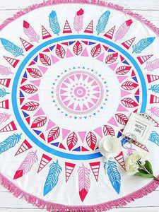 BeachVibe™️ Mandala Art & Summer Prints Round Beach Towels