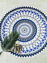 Load image into Gallery viewer, BeachVibe™️ Mandala Art & Summer Prints Round Beach Towels
