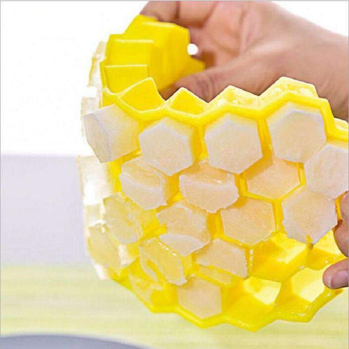 Eco-Friendly Honeycomb Pattern Silicone Ice Cube Tray