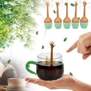 Funny Hand Gestures Silicone Tea Infuser