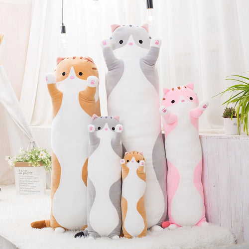 PlushKitty™ Log Cat Plush Pillow