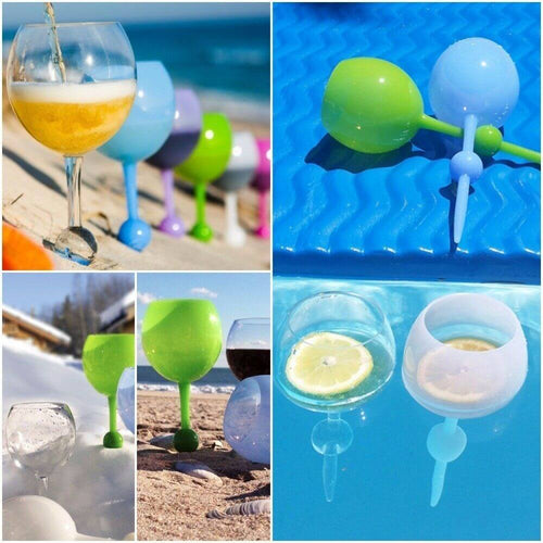 Float&Stick™ Beach & Pool Wine Glass