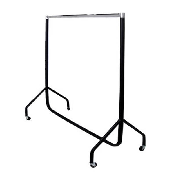 Black And Chrome Heavy Duty Garment Or Clothes Rail
