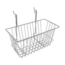 Small Chrome Display Basket For Gridwall Or Slatwall Panels