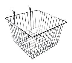Gridwall Or Slatwall Panel Wire Basket
