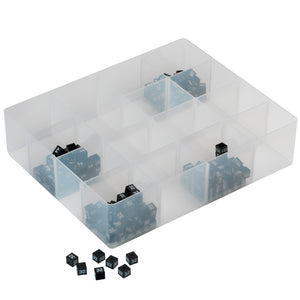 Size cube organiser with sixteen compartments