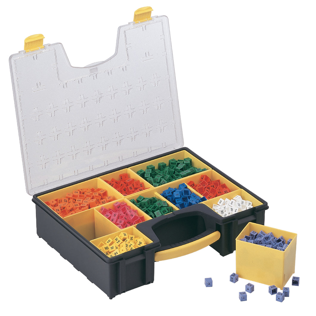 Size cube organiser with carrying handle