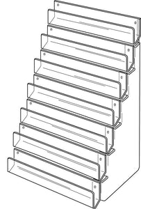 Seven Tier Wall Fix Card Rack