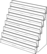 Load image into Gallery viewer, Seven Tier Card Rack - 60cm - Wall Fix - Clear Acrylic