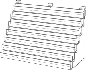 Slatwall Three Tier card rack