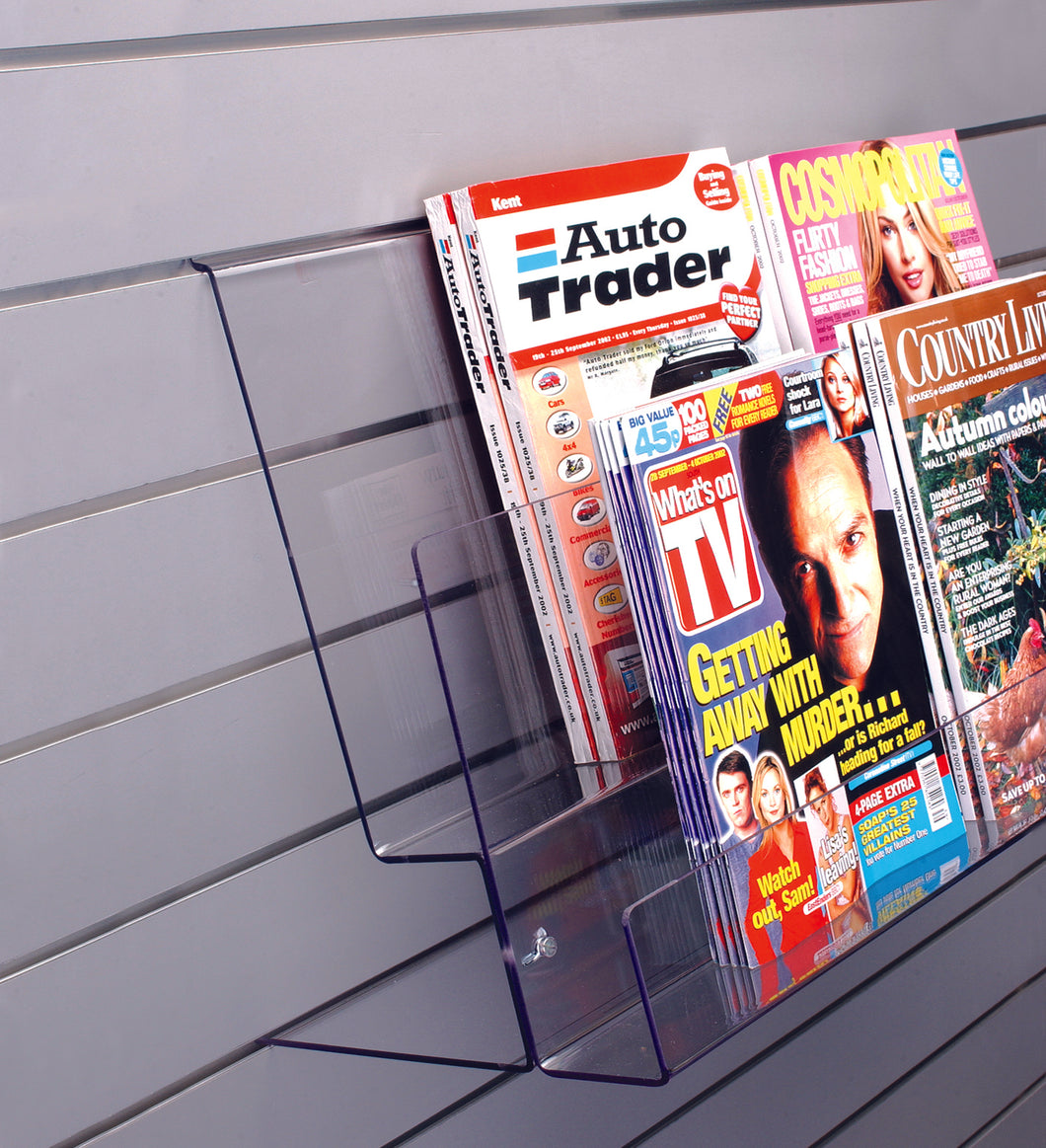 Heavy Duty Tiered Magazine Holder For Slatwall