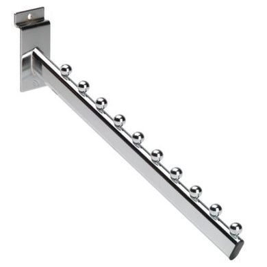 Slatwall Chrome 10 Ball Sloping Arm