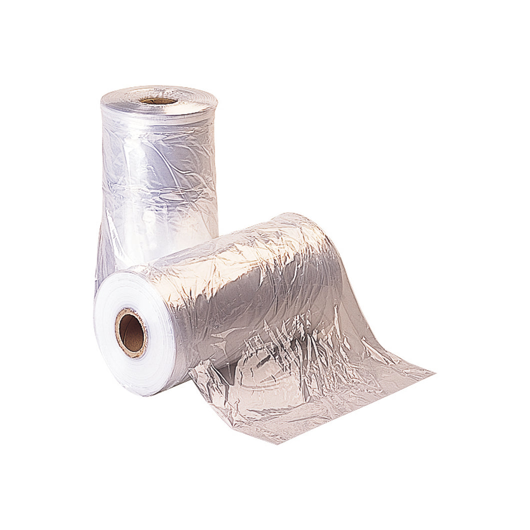 Clear garment covers on a roll